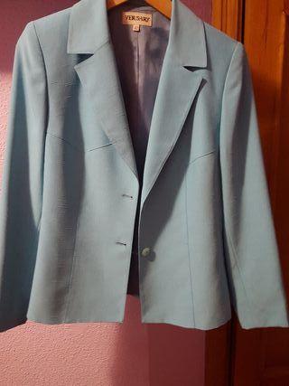 chaqueta azul talla 42