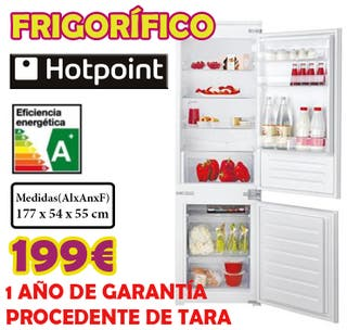 FRIGORIFICO PANELABLE HOTPOINT 1,77M A+