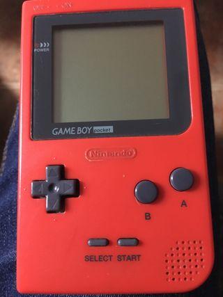 Game boy pocket + Pokémon rojo