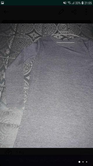 vestido gris talla unica