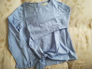 Blusa azul Zara T9/10