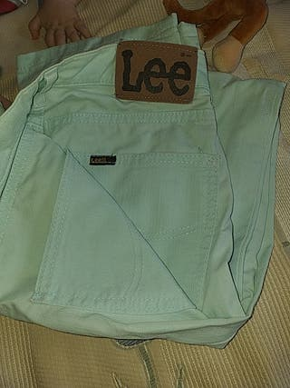 pantalon verdr claro LEE