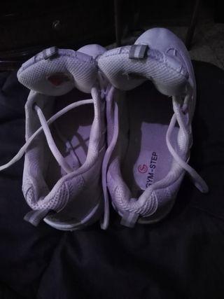 Zapatillas blancas altas talla 39