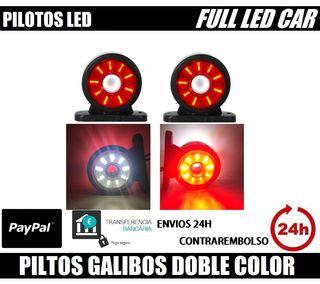 2 GALIBOS LED DOBLE COLOR ROJO BLANCO 12V 24V E9