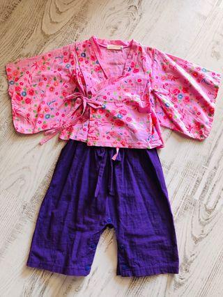 Conjunto kimono y pantalón chino 1'5/2 años