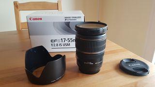Objetivo Canon EFS 17-55mm f2.8 IS USM
