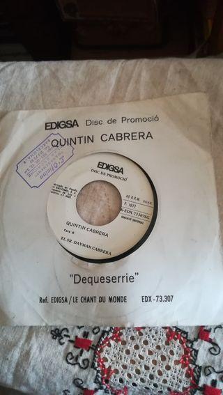 Antiguo vinilo promocional de Quintín Cabrera