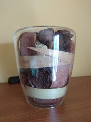 Portavelas Oval Chocolat