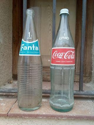 Botellas Coca Cola y Fanta
