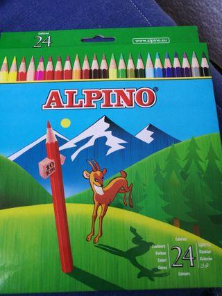 Pinturas alpino 24 unidades, nuevas