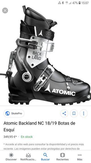 bota travesia atomic blak land