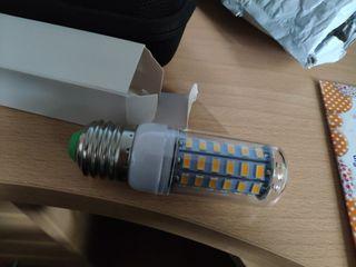 cinco bombillas de leds a estrenar 650lm