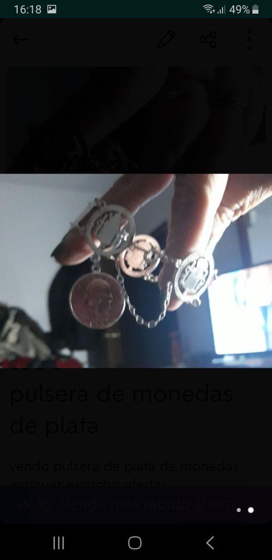 pulsera de monedas antiguas de plata