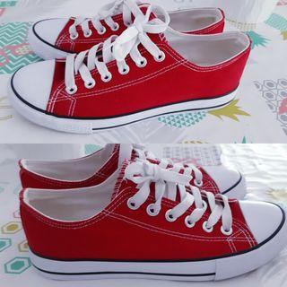 zapatillas de Lona roja 39