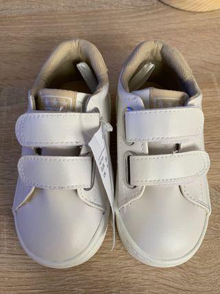 Zapatillas bebé 21 blancas Velcro