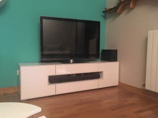 Mueble tv 180 cm blanco Brillo