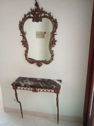 Espejo y recibidor vintage