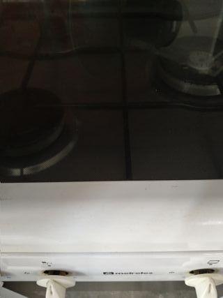 cocina a gas con horno eléctrico