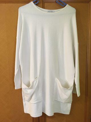 Jersey largo/vestido Blanco