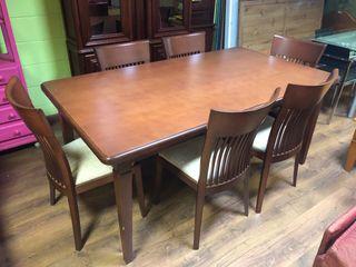 Conjunto mesa + 6 silla