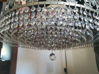 preciosa lampara de cristales de roca