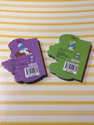 """Lote 2 libros infantiles """"Los pitufos"""""""