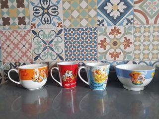 Kellogs vintage lote tazas y tazón