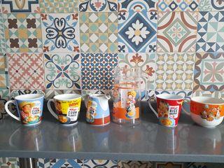 Lote taza, tazon, jarras Kellogs Vintage.