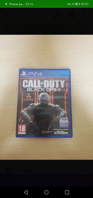 Videojuego Call of Duty Black Ops Ps4
