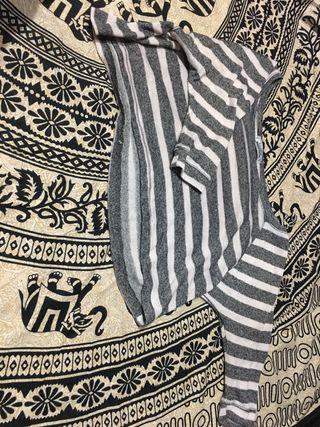 Camisa/jersey Rayas Gris y Blanco