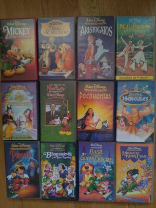 22 películas VHS Disney y animación
