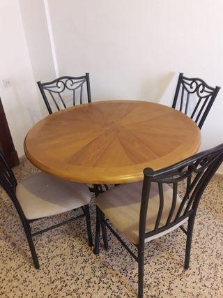 Conjunto mesa redonda con sillas