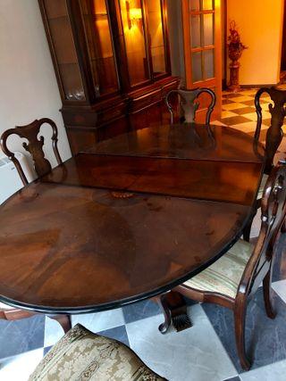 Mesa Extensible Salón/Comedor + 6 sillas