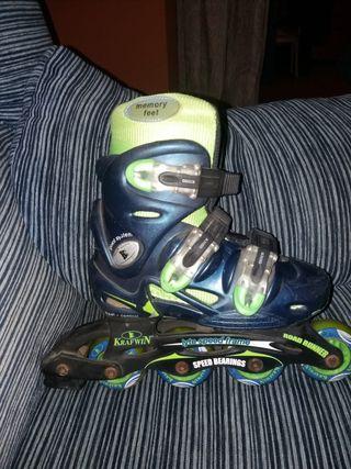 patines de línea talla 34