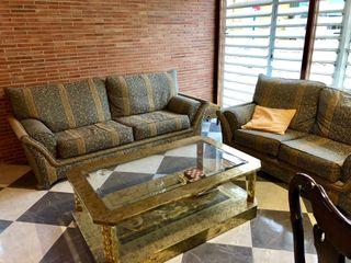 Sofás y mesa de centro Vintage
