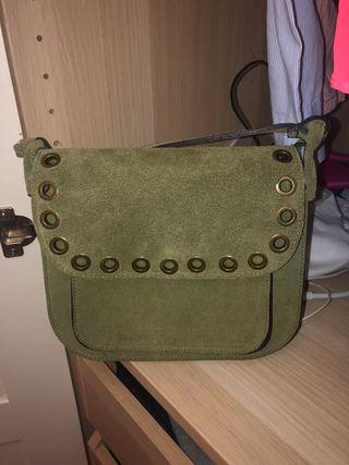Bolso verde piel auténtica NUEVO
