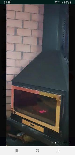 estufa de leña esquinera de Chimeneas Cardona