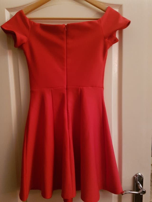 red dress size 38-medium.