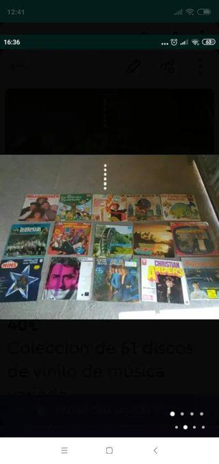 Colección de 61 discos de vinilo de música variada