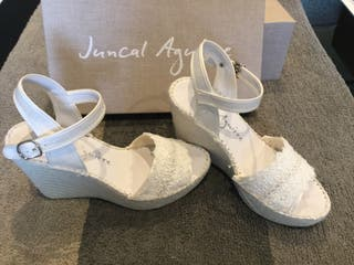 Sandalia novia Juncal Aguirre talla 35 boda