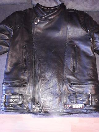 Chaqueta piel moto Kiwi