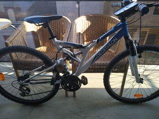 Bicicleta Rockraider de montaña con doble suspensi