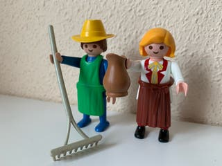 Duo playmobil granjeros