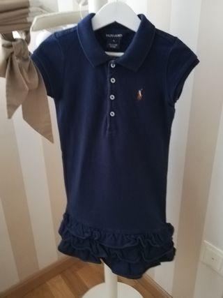 vestido de niña, marca Ralph Lauren, talla 5