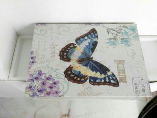 Caja Libro Madera Mariposa