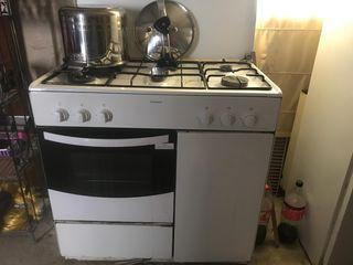 cocina de gas con horno