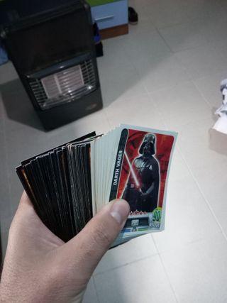 89 cromos/cartas Star Wars