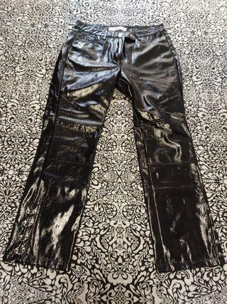 pantalón vinilo nuevo talla 38 mango