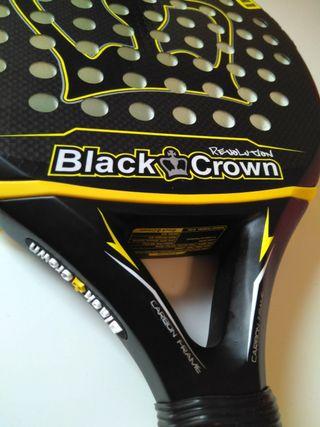 Pala padel black crown revolution nueva