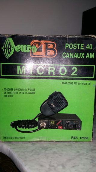 Emisora de radio Euro CB Micro 2